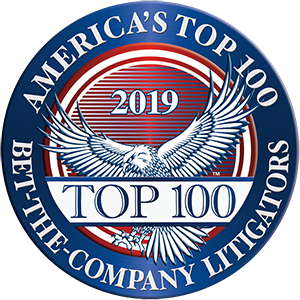 America's Top 100 Bet-the-Company Litigators 2019® Recipient Award