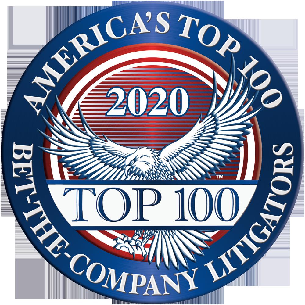 America's Top 100 Bet-the-Company Litigators 2020® Recipient Award